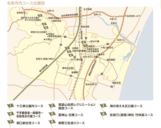 名取市ウォーキングマップ